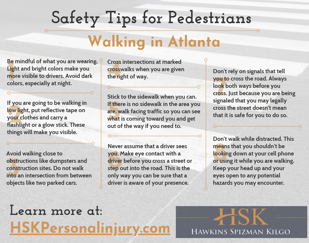 safety tips for pedestrians walking in atlanta
