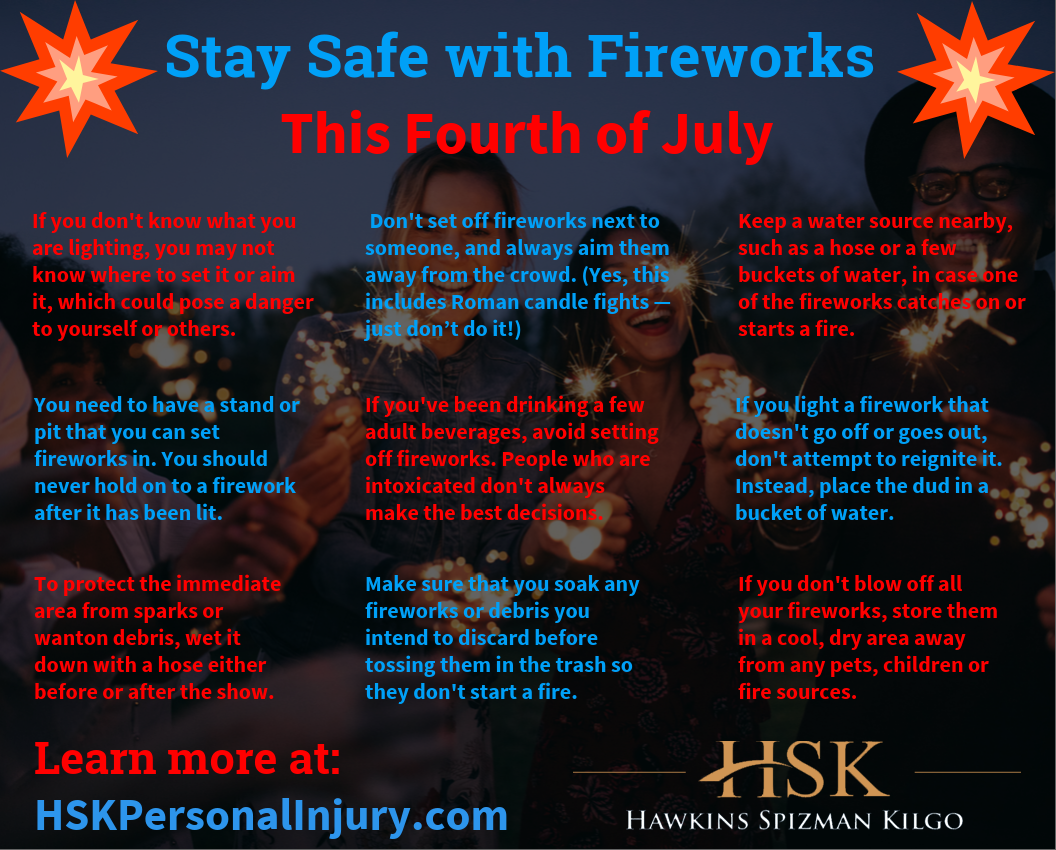 Stay Safe with Fireworks This Fourth of July infographic