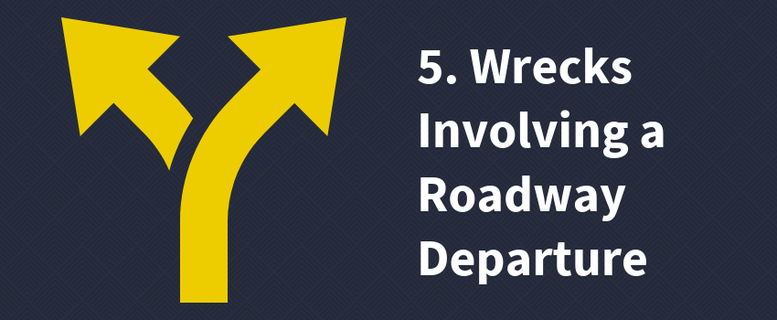 5. Wrecks Involving a Roadway Departure